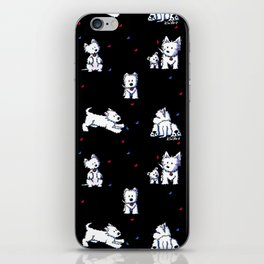 KiniArt Westie Block Party iPhone Skin
