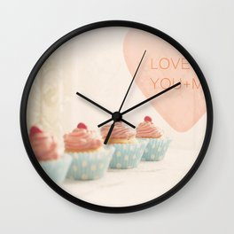 Love is You + Me Wall Clock