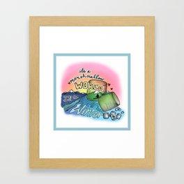 Marshmellow World Framed Art Print