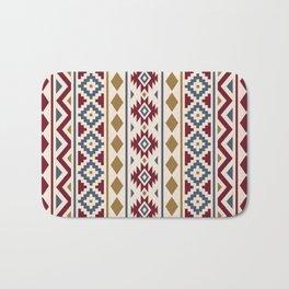 Aztec Essence Ptn III Red Blue Gold Cream Bath Mat