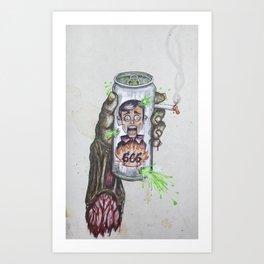 Left Hand Man Art Print