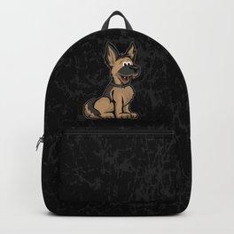 Cute German Shepard Dog Cartoon Backpack