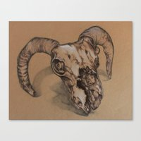 ram Canvas Prints featuring Ram by NIA ROO