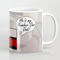 """picard Mugs featuring """"Number One Dad"""" Minimalist Star Trek TNG The Next Generation Picard startrek Fathers Day Father's  by Trektangles"""