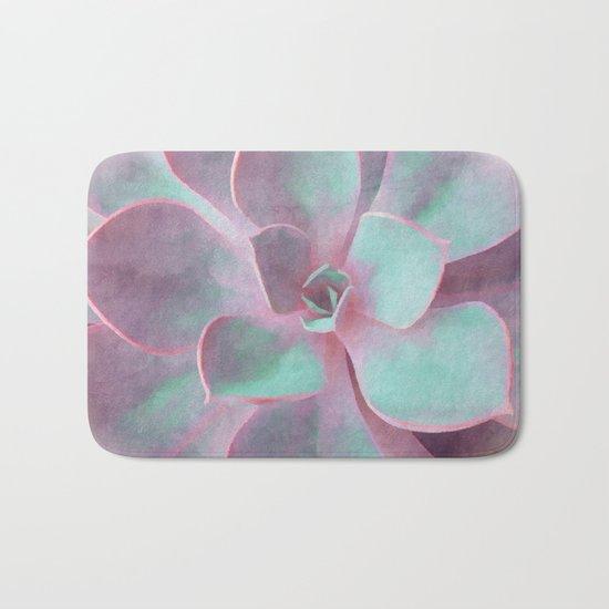 Pastel Succulent Bath Mat