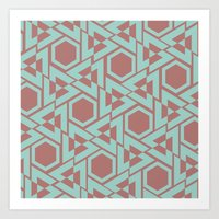 hexagon Art Prints featuring Hexagon by Jerod Barker