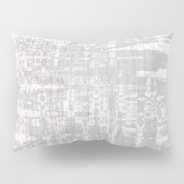 Greyish dirty and wavy look on white pavement Pillow Sham