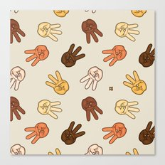 Hiii Power hand sign (remix)  Canvas Print