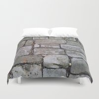 medieval Duvet Covers featuring MEDIEVAL FLOOR by Melania Emma