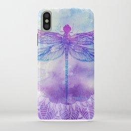 Mandala Dragonfly iPhone Case