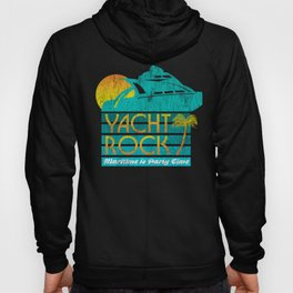 Womens Yacht Rock Party Boat Drinking design Maritime = Party Time V-Neck graphic Hoody
