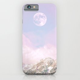 Closer to the moon - Pastel landscape iPhone Case
