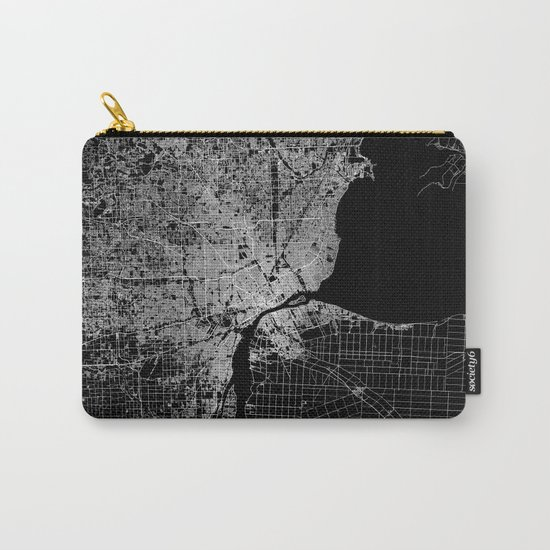 Detroit map  Carry-All Pouch
