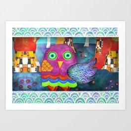 Klimty Forest Art Print