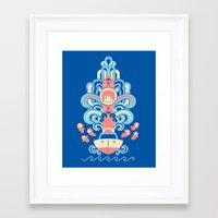 ponyo Framed Art Prints featuring Ponyo Deco by Ashley Hay
