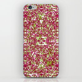 Purple & Green Rice iPhone Skin
