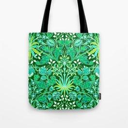 William Morris Hyacinth Print, Emerald Green Tote Bag