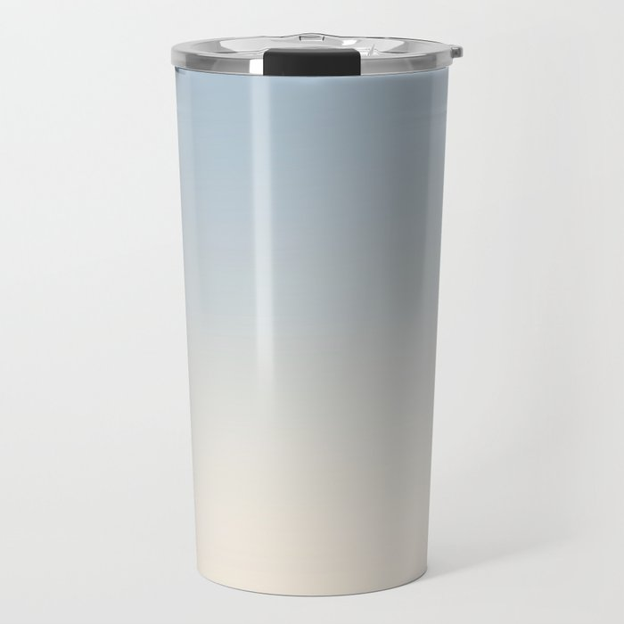 IVORY BONES - Minimal Plain Soft Mood Color Blend Prints Travel Mug