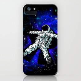 Astronaut Playing in Galaxy like Snow  iPhone Case