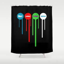 Illest Canibeat Fatlace Hellaflush Shower Curtain