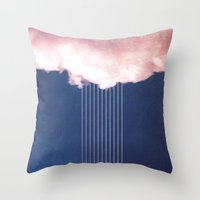 rain Throw Pillows featuring Rain by SUBLIMENATION