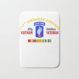 173rd Airborne Brigade Vietnam Veteran Shirt Sky Soldier Tee Bath Mat