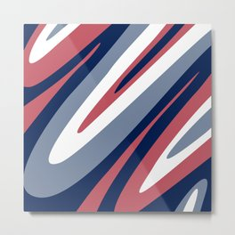 Abstraction. Abstract waves. Camouflage. Metal Print