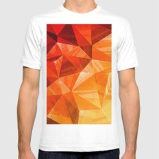 Tricolor Mens Fitted Tee MEDIUM White