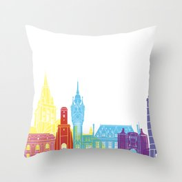 Calais skyline pop Throw Pillow