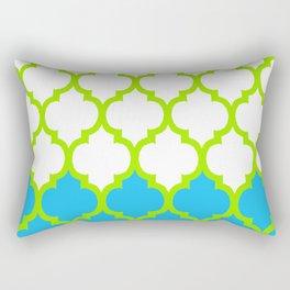Moroccan Green and Blue Rectangular Pillow