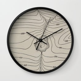 Lake Valley Mountain Wall Clock