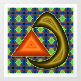 Absorbing triangle ... Art Print