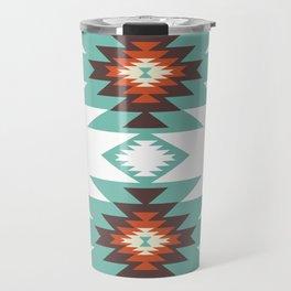 Southwest Santa Fe Geometric Tribal Indian Abstract Pattern Travel Mug