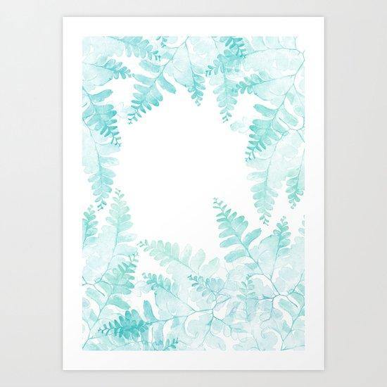 Ferns Jungle Art Print