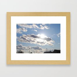 Beautiful Clouds Framed Art Print