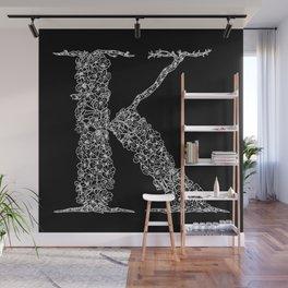 Cherry Blossom K Black Wall Mural