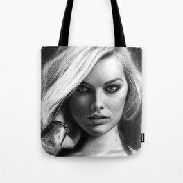 Margot Robbie Pencil Sketch Tote Bag
