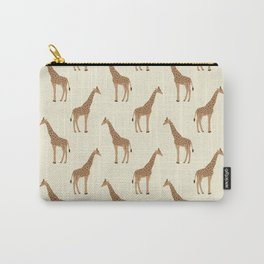 Giraffe animal minimal modern pattern basic home dorm decor nursery safari patterns Carry-All Pouch