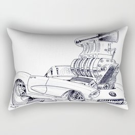 Blown Vette Rectangular Pillow