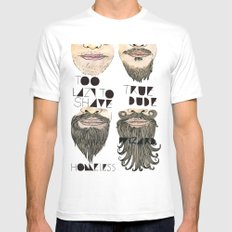the beard chart of dudeliness Mens Fitted Tee White MEDIUM