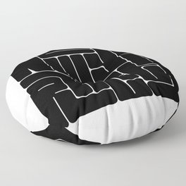 New York City Typography Floor Pillow