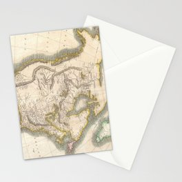 Vintage Map of North America (1814) Stationery Cards