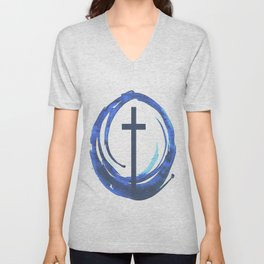Circle Of Life - Cross Unisex V-Neck