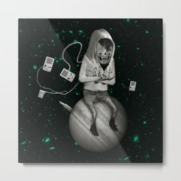 SPACE CRAB Metal Print
