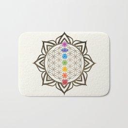 Flower of Life Chakra Healing Mandala Bath Mat