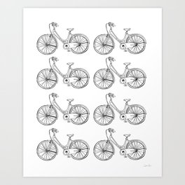 I want to ride my bicycle  Art Print
