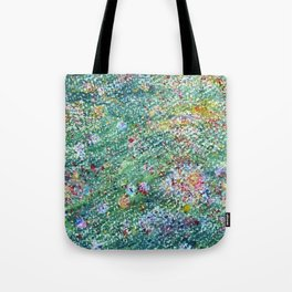 colorful flower filed Tote Bag
