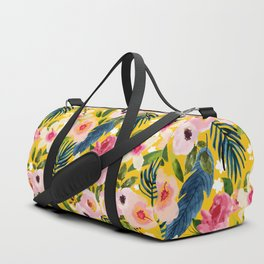 No Winter Lasts Forever; No Spring Skips It's Turn #painting #botanical Duffle Bag