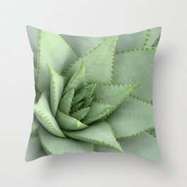 Plant Spur Cactus Throw Pillow