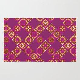 Fuchsia Squares Pattern Rug